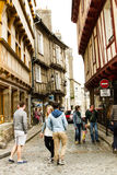 Medieveil Street of Vannes. Small quaint streets of Vannes, Bretagne, France Royalty Free Stock Photography