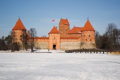 Medievel castle (Trakai) Royalty Free Stock Photo