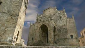 Medievel Catholic Church (fourteenth century). Chiesa Matrice in Erice, Sicily stock footage