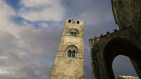 Medievel Catholic Church (fourteenth century). Chiesa Matrice in Erice, Sicily stock video footage