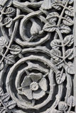 Medievel floral stone engraving Stock Photography