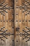 Medievel wood door Stock Image