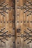 Medievel wood door stock image