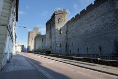 Caernarfon castle Stock Photo