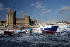 Caernarfon castle Stock Photos