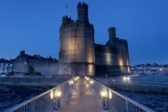 Caernarfon castle Royalty Free Stock Photo