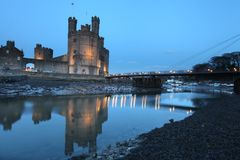 Caernarfon castle Stock Image