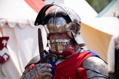 Medievil soldier at the Tewkesbury Medieval Festival.
