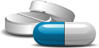medikament stock illustrationer