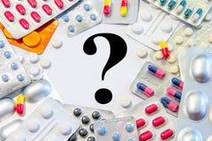 Medikations-Behandlungs-Verwirrung lizenzfreie stockfotos