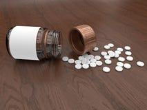 Medikationspillen heraus verschüttet stock abbildung