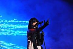 Medina. Danish singer, Media, performing in Tivoli copenhagen, Denmark Stock Image