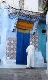 Medina av Chefchaouen, Marocko Arkivfoton