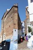 Medina av Chefchaouen, Marocko Fotografering för Bildbyråer