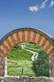 Medina Azahara arch restored Stock Images