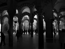 Medina Azahara cordoba spain in black and white Royalty Free Stock Photos