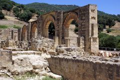 Medina Azahara ruins in Spain Royalty Free Stock Photos