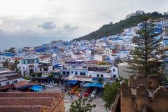 Medina azul bonito da cidade de Chefchaouen em Marrocos, África Fotografia de Stock