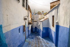 Medina azul da cidade de Chefchaouen em Marrocos, África Imagem de Stock