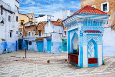 Medina of Chefchaouen city in Morocco, Africa Stock Images