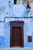 Medina of Chefchaouen, Morocco noted for its buildings in shades of blue. Medina of Chefchaouen, Morocco. Chefchaouen or Chaouen is a city in northwest Morocco stock photo