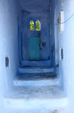 Medina of Chefchaouen, Morocco. Street in the blue medina of Chefchaouen, Morocco Stock Photos