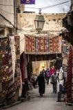 Medina of Fes. Main Shopping street of Fes, Morocco Stock Photo