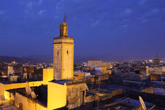 Medina in Fes at ngiht. Morocco Royalty Free Stock Image