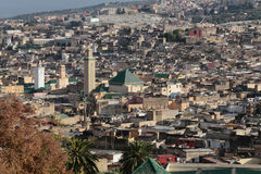 Medina of Fez in Morocco Moulay Idriss mosque Stock Images