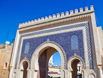 Medina Gate in Fes Stock Images
