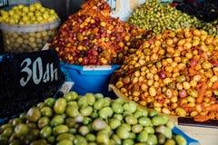 Medina Market Casablanca. Olive Orange royalty free stock photos