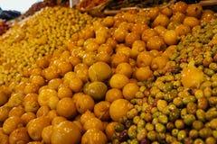 Medina Market Casablanca. Olive Orange Royalty Free Stock Photo