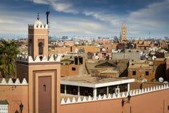 Medina of Marrakesh. Historical walled city of Marrakesh Stock Photos