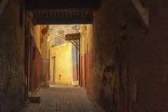Medina of Meknes, Morocco. Streets of Meknes showing buildings, architecture and colors Stock Photos