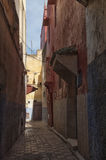 Medina of Meknes, Morocco. Streets of Meknes showing buildings, architecture and colors Stock Image