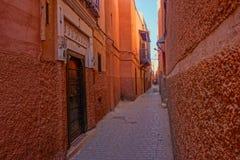 Medina rosso di Marrakesh, Marocco fotografie stock