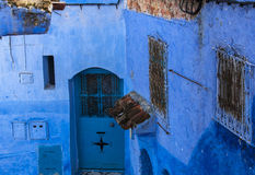 Medina's Architecture of Chefchaouen, Morocco Stock Photo