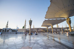 MEDINA, SAUDI ARABIA (KSA) - MARCH 21: SUnset at Nabawi Mosque Royalty Free Stock Photo