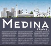 Medina Skyline with Gray Buildings, Blue Sky and Copy Space. Stock Photography