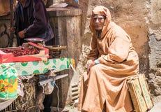 Medina souk of Fes, Marocco. Royalty Free Stock Image