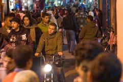 Medina streets at night Stock Images