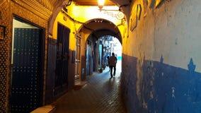 Medina tangier. Old street in tangier city Stock Photos