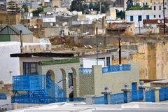 The medina of Tunis. Tunisia. Tunis - old town (medina) seen from roof top Stock Photo