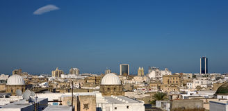 The medina of Tunis. Tunisia. Tunis - old town (medina) seen from roof top Royalty Free Stock Image