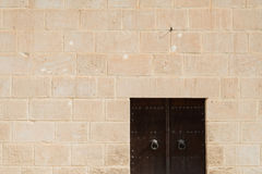 Medina Wall with Door (2). Fortified Wall around Tunsian Old Town with Entrance Door Royalty Free Stock Image