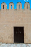 Medina Wall with Door (3). Fortified Wall around Tunsian Old Town with Entrance Door Royalty Free Stock Image