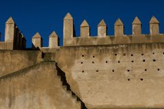 Medina walls in Fez Royalty Free Stock Photography
