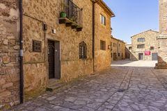 Houses of Castilian style in Medinaceli stock photography