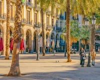 Medinaceli Duke Square, Barcelone, Espagne photographie stock libre de droits