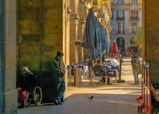Medinacelli Duke Square, Barcelone, Espagne photographie stock libre de droits